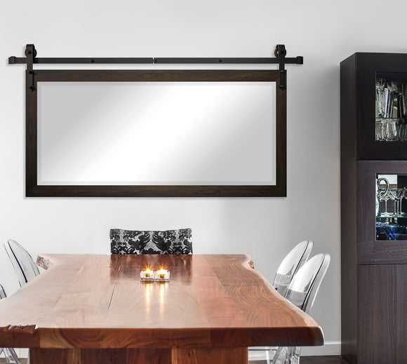 Beveled Wall Mirror with Barn Door Kit (R068) *Suggested Retail*