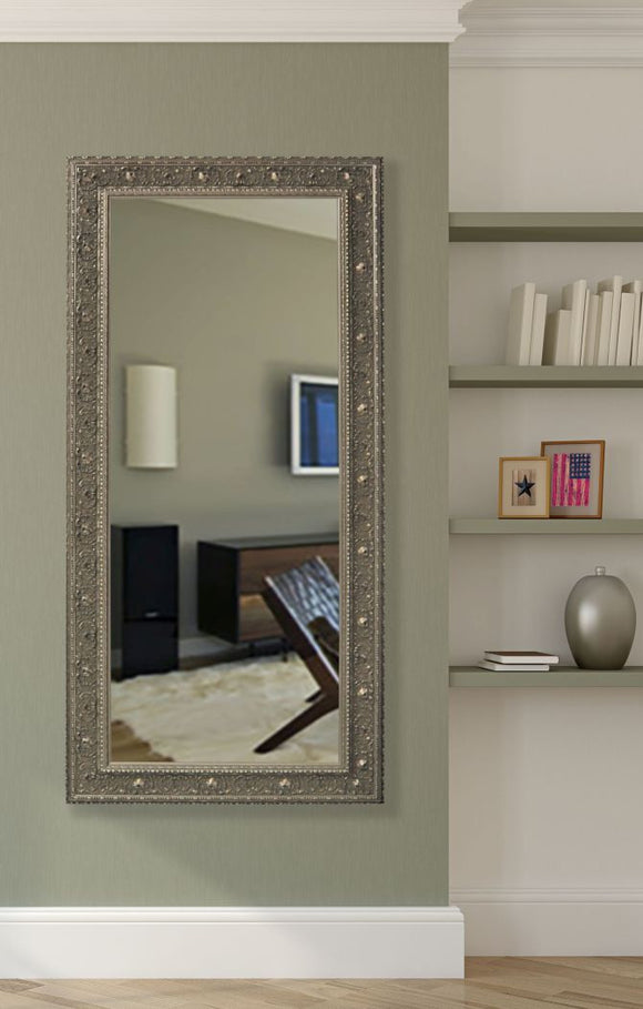 American Made Rayne Opulent Silver Tall Mirror Size 32.5x67.5 - R070T ~Suggested Retail~