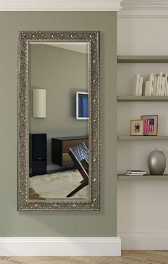 American Made Rayne Opulent Silver Beveled Tall Mirror (R070BT) *Suggested Retail*
