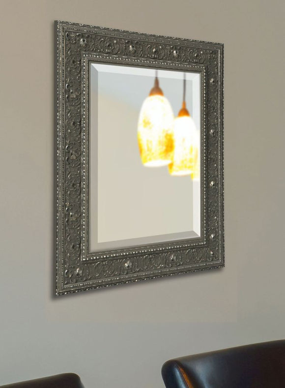 American Made Rayne Opulent Silver Beveled Wall Mirror (R070) *Suggested Retail*
