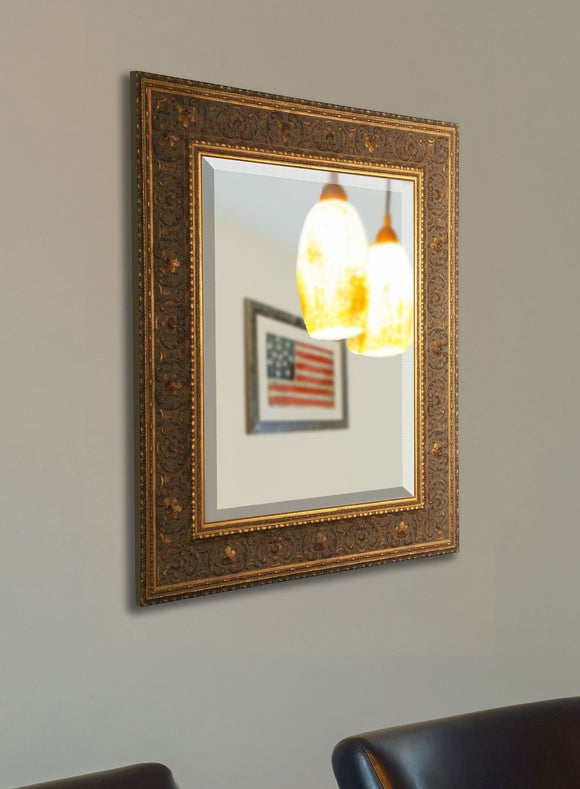 American Made Rayne Opulent Gold Beveled Wall Mirror (R071) *Suggested Retail*