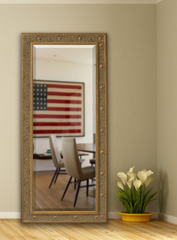 American Made Rayne Opulent Gold Beveled Tall Mirror (R071BT) *Suggested Retail*