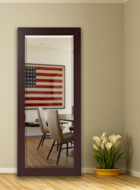 American Made Rayne Dark Mahogany Beveled Tall Mirror (R076BT) *Suggested Retail*