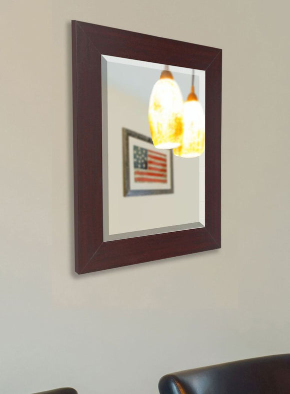 American Made Rayne Dark Mahogany Wall Mirror - R076 ~Suggested Retail~