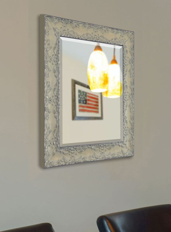 American Made Rayne Maclaren Pewter Beveled Wall Mirror (R079) *Suggested Retail*