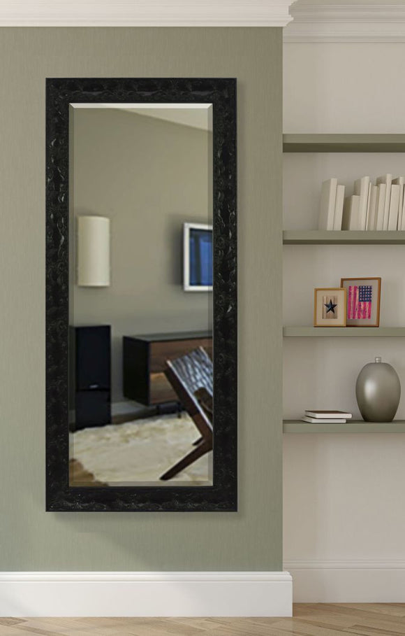 American Made Rayne Black Endicott Extra Tall Mirror Size 31x71.5 - R080XT ~Suggested Retail~