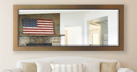American Made Rayne Golden Lowe Beveled Tall Mirror (R082BT) *Suggested Retail*