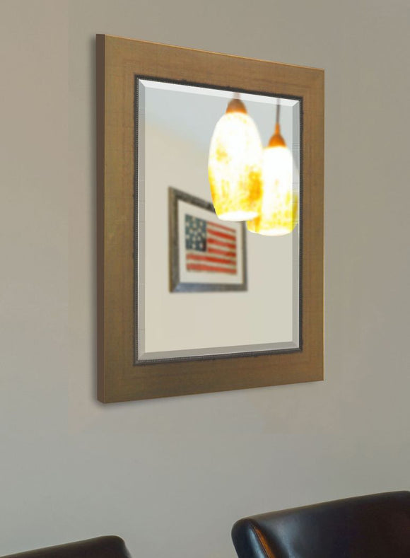 American Made Rayne Golden Lowe Beveled Wall Mirror (R082) *Suggested Retail*