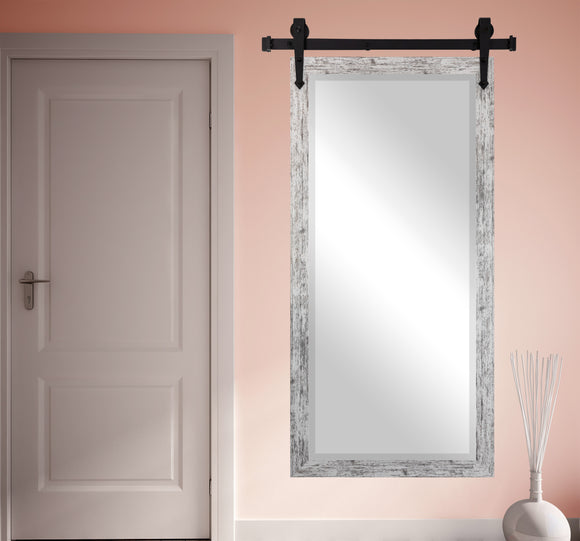 Beveled Wall Mirror with Barn Door Kit (R093BT) *Suggested Retail*