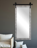 Beveled Wall Mirror with Barn Door Kit (R093XT) *Suggested Retail*