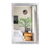 American Made Rayne Taciturn Silver Gunmetal Beveled Wall Mirror (R095) *Suggested Retail*