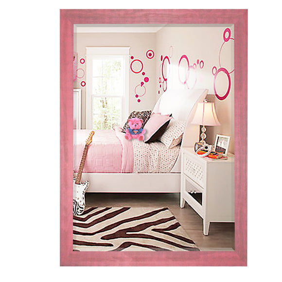 American Made Rayne Vintage Pink Wall Mirror (R096) *Suggested Retail*