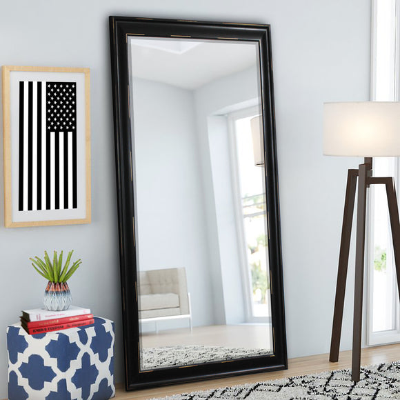 American Made Rayne Black with Blonde Scratches Extra Tall Floor Mirror (R099XT) *Suggested Retail*
