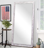 American Made Rayne Rustic Country White Extra Tall Floor Mirror (R0100XT) *Suggested Retail*