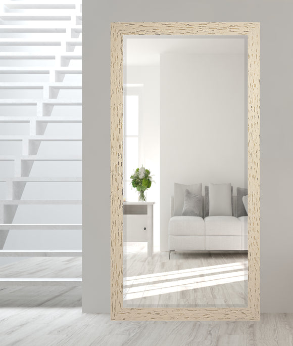 American Made Rayne Cream and Black Beveled Tall Mirror (R0104BT) *Suggested Retail*