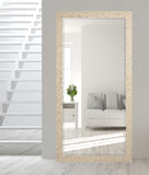 American Made Rayne Cream and Black Extra Tall Floor Mirror (R0104XT) *Suggested Retail*