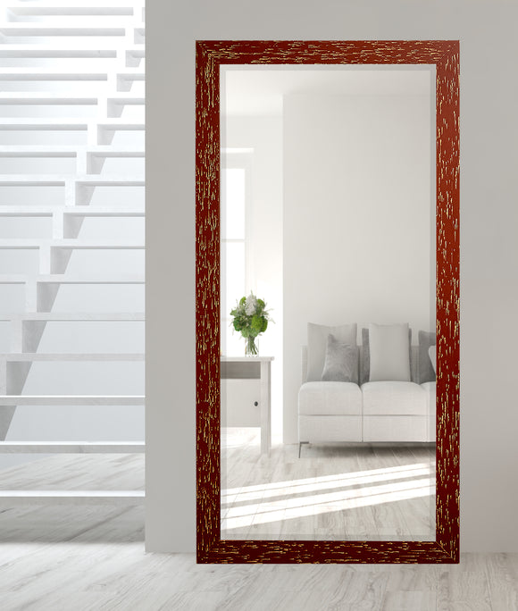 American Made Rayne Brick Red Extra Tall Floor Mirror (R0106XT) *Suggested Retail*