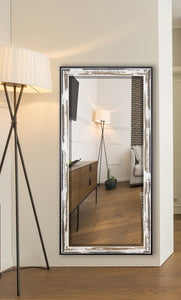 American Made Rayne Brown and Cream Distressed Extra Tall Floor Mirror (R0109XT) *Suggested Retail*