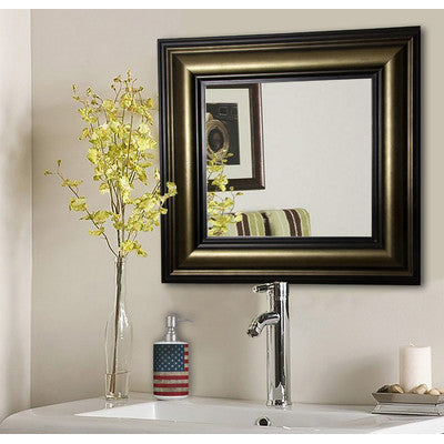 American Made Rayne Stepped Antiqued Square Wall Mirror (S007) *Suggested Retail*