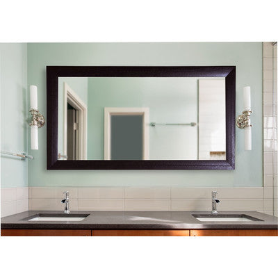 American Made Rayne Espresso Leather Double Vanity Wall Mirror - DV023 ~Suggested Retail~