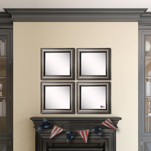 American Made Rayne Antique Silver Square Wall Mirror (S028S Set of 4) *Suggested Retail*
