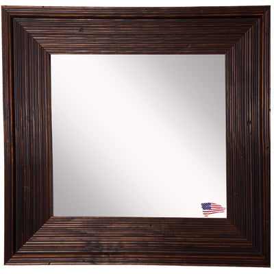 American Made Rayne Barnwood Brown Square Wall Mirror - S017 ~Suggested Retail~