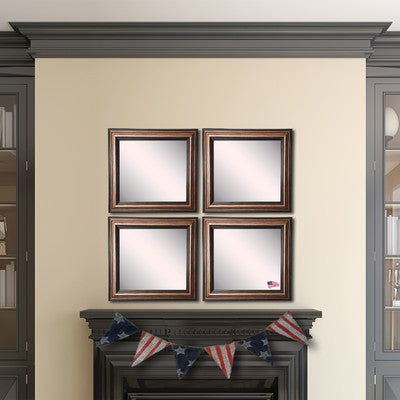 American Made Rayne Canyon Bronze Square Wall Mirror Set - S029S.4 ~Suggested Retail~