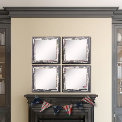 American Made Rayne Rustic Seaside Square Wall Mirror Set - S040S.4 ~Suggested Retail~
