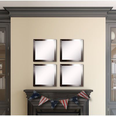 American Made Rayne Silver Petite Square Wall Mirror Set - S002S.4 ~Suggested Retail~