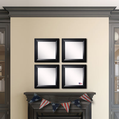 American Made Rayne Solid Black Angle Square Wall Mirror Set - S009S.4 ~Suggested Retail~