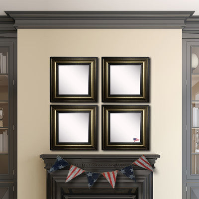 American Made Rayne Stepped Antiqued Square Wall Mirror Set - S007S.4 ~Suggested Retail~