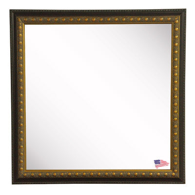 American Made Rayne Traditional Cameo Bronze Square Wall Mirror (S042) *Suggested Retail*
