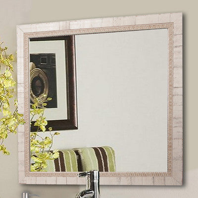 American Made Rayne Tuscan Ivory Square Wall Mirror (S047) *Suggested Retail*