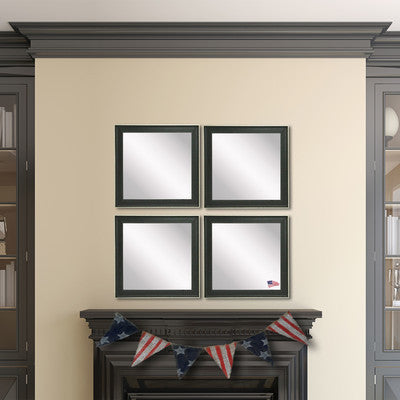 American Made Rayne Vintage Black Square Wall Mirror Set - S058S.4 ~Suggested Retail~