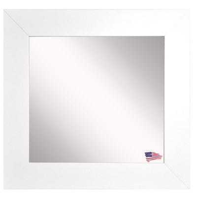 American Made Rayne White Satin Wide Square Wall Mirror (S036) *Suggested Retail*