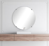 American Made Non-Beveled Frameless Round Wall Mirror (NB-1/4-FRMLS-RND-SM.CHRM RD) *Suggested Retail*