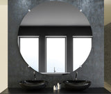 American Made Non-Beveled Frameless Round Wall Mirror (NB-1/4-FRMLS-RND-CLEAR) *Suggested Retail*