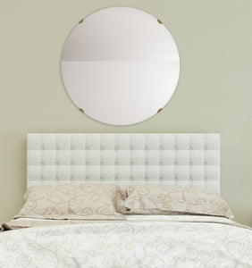 American Made Non-Beveled Frameless Round Wall Mirror (NB-1/4-FRMLS-RND-ANTQ GLD) *Suggested Retail*