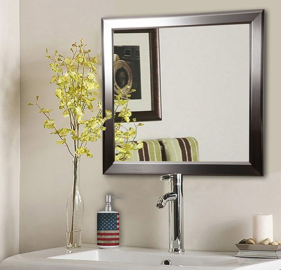 American Made Rayne Silver Rounded Square Wall Mirror (S001) *Suggested Retail*