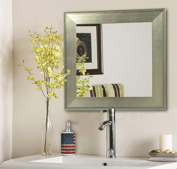 American Made Rayne Brushed Silver Square Wall Mirror (S004) *Suggested Retail*