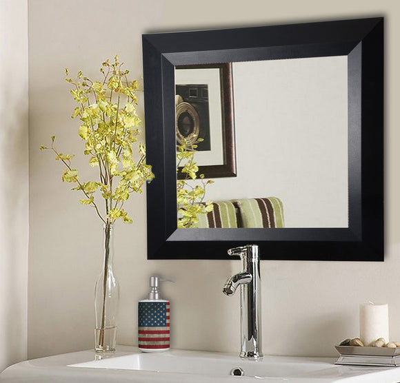 American Made Rayne Solid Black Angle Square Wall Mirror (S009) *Suggested Retail*