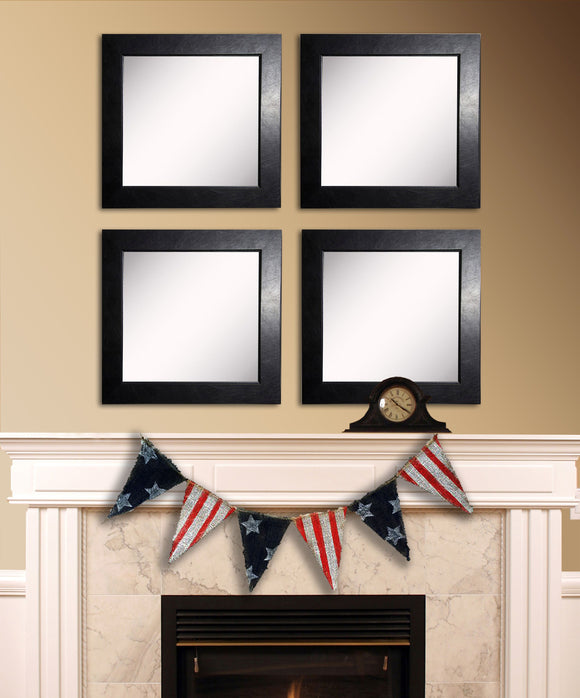 American Made Rayne Black Superior Square Wall Mirror Set - S012S.4 ~Suggested Retail~