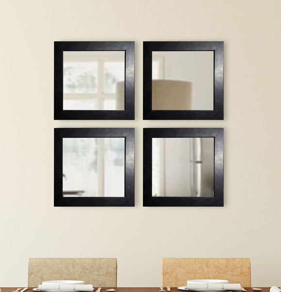 American Made Rayne Black Superior Square Wall Mirror (S012S Set of 4) *Suggested Retail*