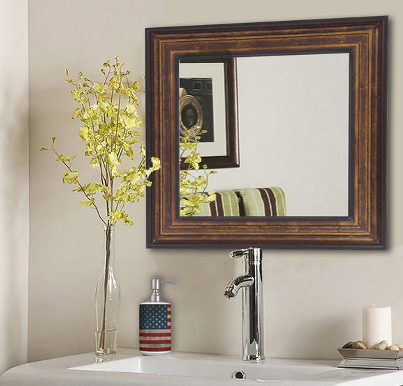 American Made Rayne Bronze and Black Square Wall Mirror (S015) *Suggested Retail*