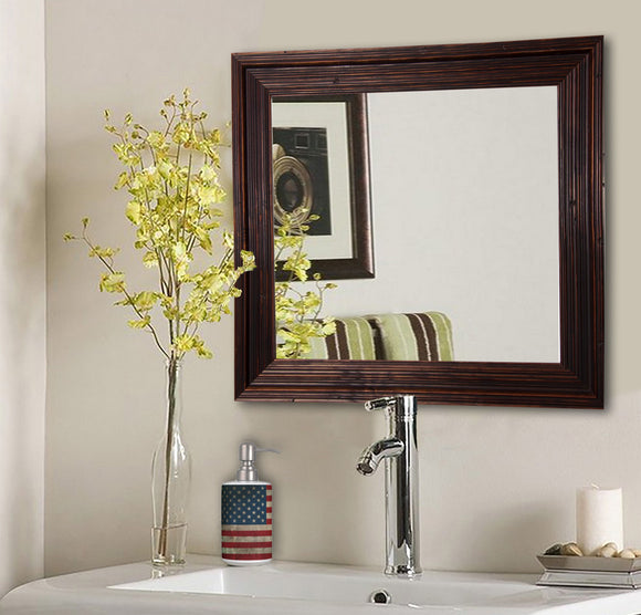 American Made Rayne Barnwood Brown Square Wall Mirror (S017) *Suggested Retail*
