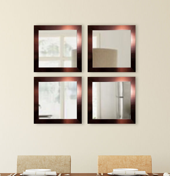 American Made Rayne Shiny Bronze Square Wall Mirror (S020S Set of 4) *Suggested Retail*