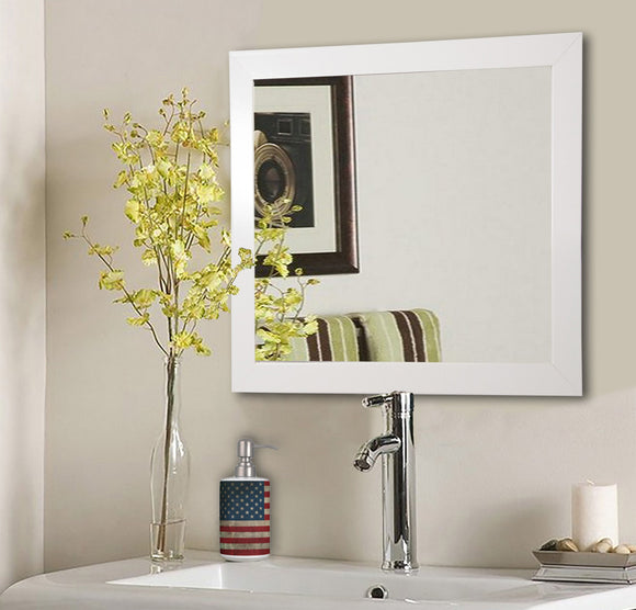 American Made Rayne Glossy White Square Wall Mirror (S021) *Suggested Retail*