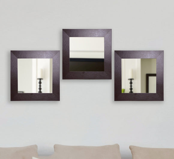 American Made Rayne Wide Brown Leather Square Wall Mirror (S022) *Suggested Retail*