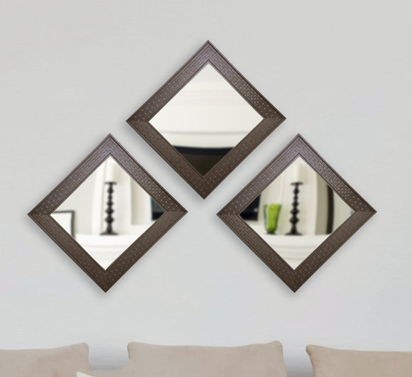 American Made Rayne Espresso Bricks Square Wall Mirror Set - S026S.3 ~Suggested Retail~