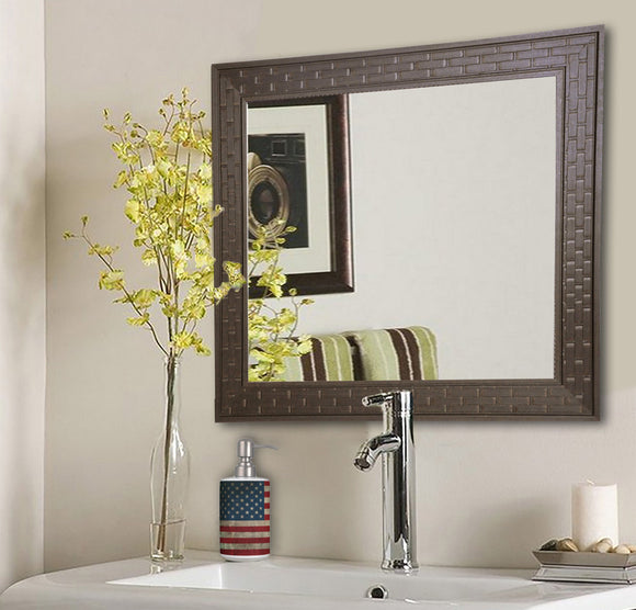 American Made Rayne Espresso Bricks Square Wall Mirror (S026) *Suggested Retail*